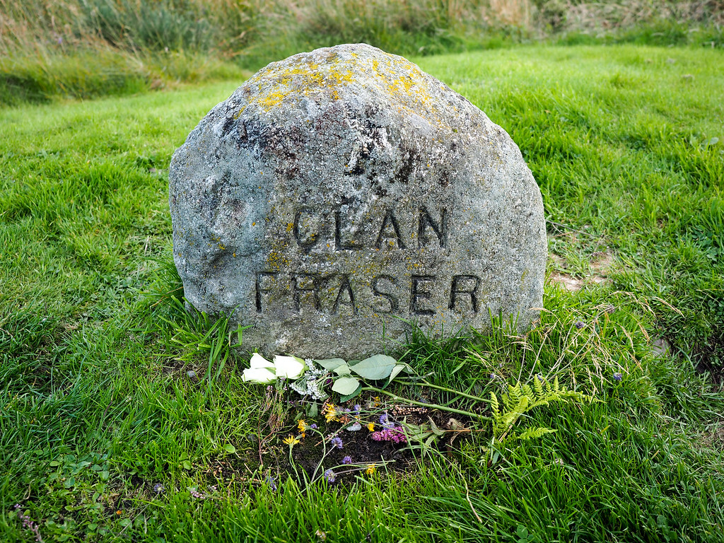 Clan gravestone at Culloden Battlefield
