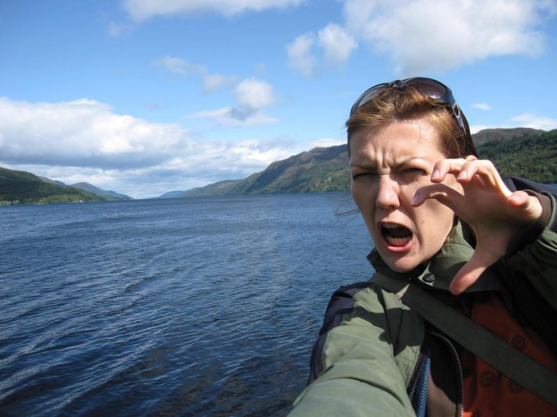 Loch Ness Monster selfie