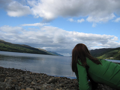 Loch Ness from Fort Augustus in Scotland.