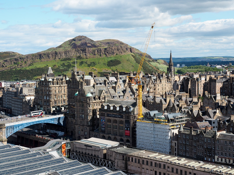 View of Edinburgh and Arthurs Seat from the Scott Monument