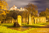 St. Cuthbert's Cemetery and Edinburgh Castle, Edinburgh, Scotland.