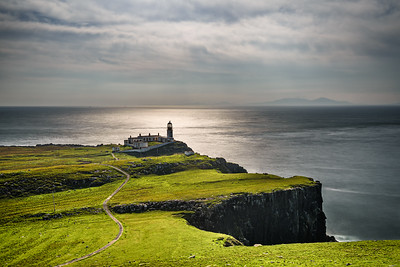 Neist Point lighthouse at Isle of Skye in Scotland