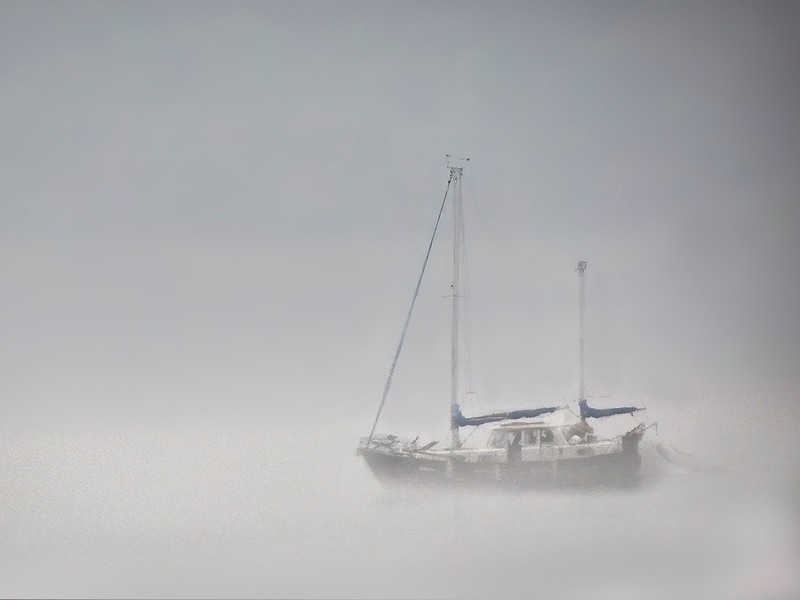 Boat and Fog - Loch Ness