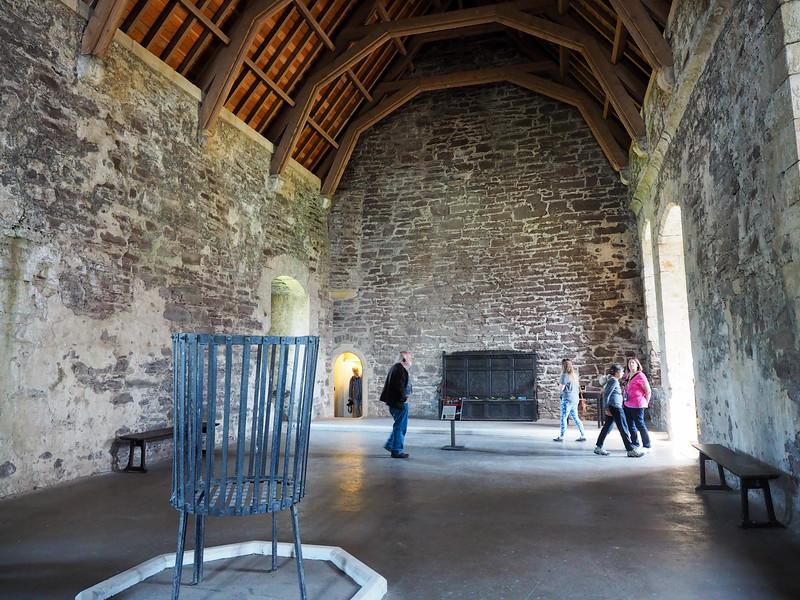 Inside Doune Castle