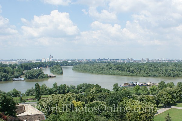 Belgrade - Confluence of Sava & Danube Rivers