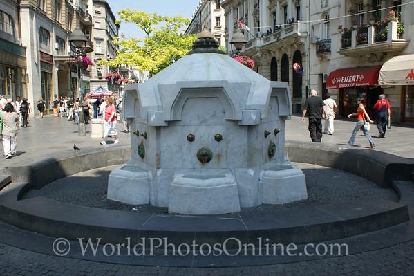 Belgrade - Pedestrian Walkway - Water Fountain
