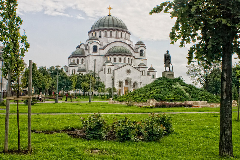 The Cathedral of Saint Sava or Hram svetog Save in Belgrade, Serbia is the largest Orthodox church currently in use. The church is dedicated to Saint Sava, founder of the Serbian Orthodox Church and an important figure in medieval Serbia. It is built on the Vracar plateau, on the location where his remains are thought to have been burned in 1595 by the Ottoman EmpireÕs Sinan Pasha. From its location, it dominates BelgradeÕs cityscape, and is perhaps the most monumental building in the city. The building of the church structure is being financed exclusively by donations. The parish home is nearby, as will be the planned patriarchal building.