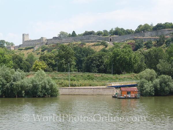Belgrade - Belgrade Fortress - Fortress Walls from Danube