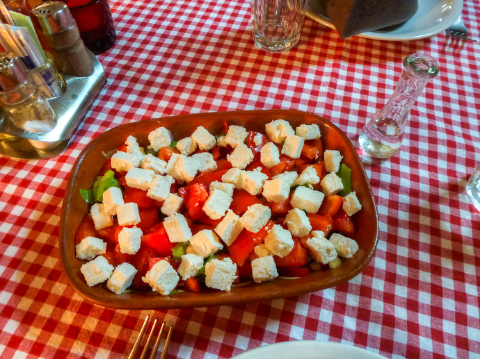 shephards salad with cheese