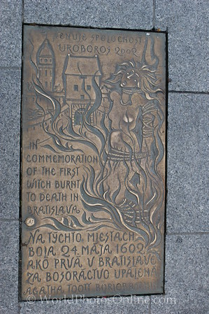 Bratislava - 1st Witch Burned Plaque