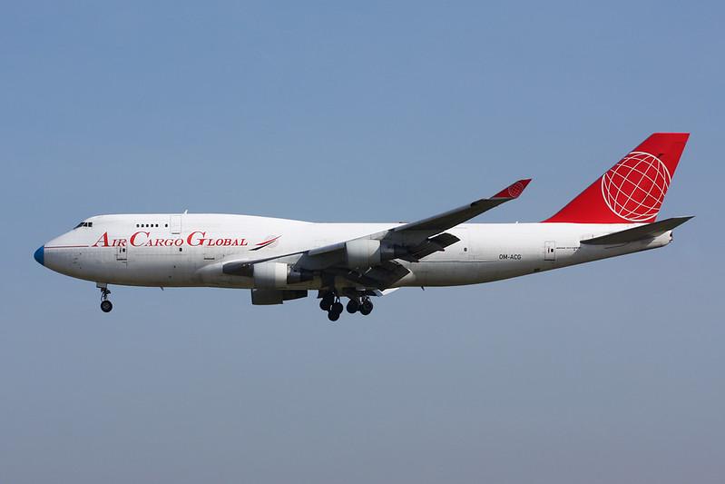 """OM-ACG Boeing 747-409BDSF """"Air Cargo Global"""" c/n 24311 Brussels/EBBR/BRU 26-03-17"""
