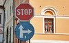 A lot of stop signs through out Europe were in English