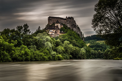 Orava Castle in Slovakia after storm