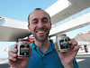Oliver shows off his IQ coffee in a can <br /> IQ: the intelligent choice (it says so on the can)