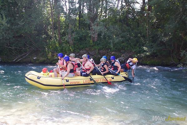 Rafting along Sava Dolinka