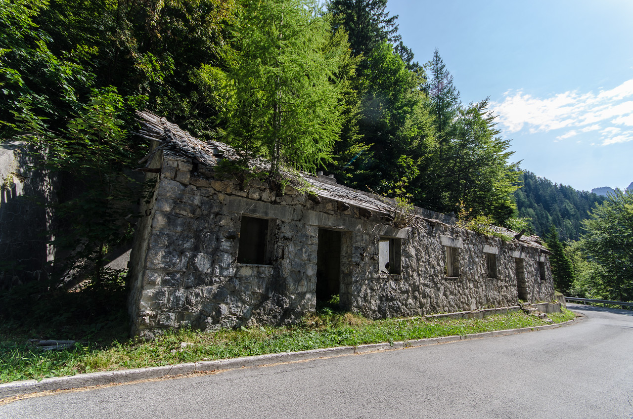 WWI ruins.