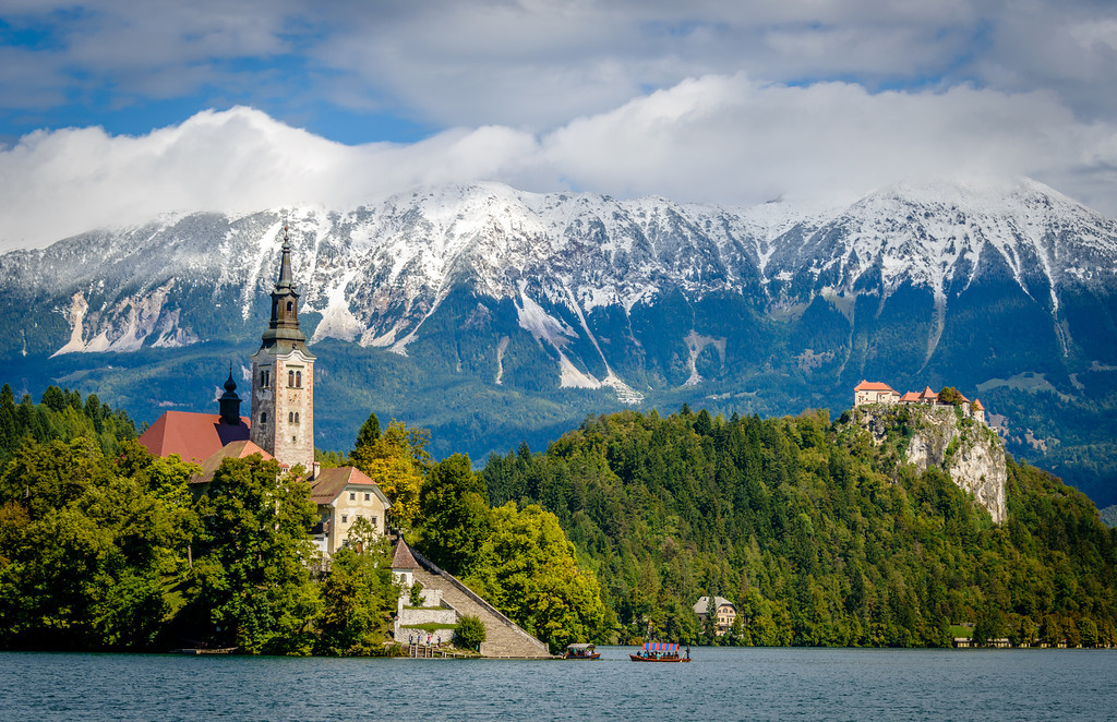 Church and Bled Castle