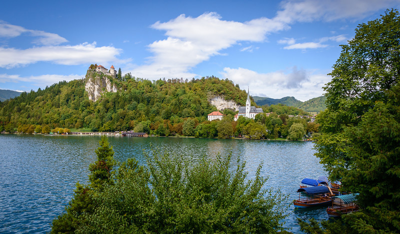 Lake Bled, View of Bled Castle