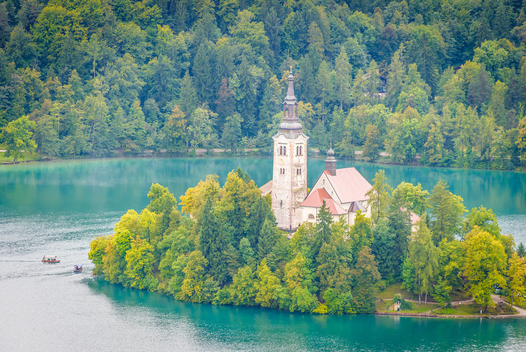 The Island (Otok) in Lake Bled - Church of the Assumption