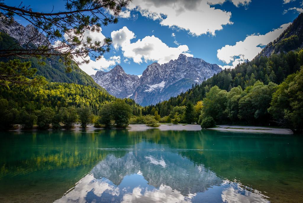 Lake Jasna Near Julian Alps