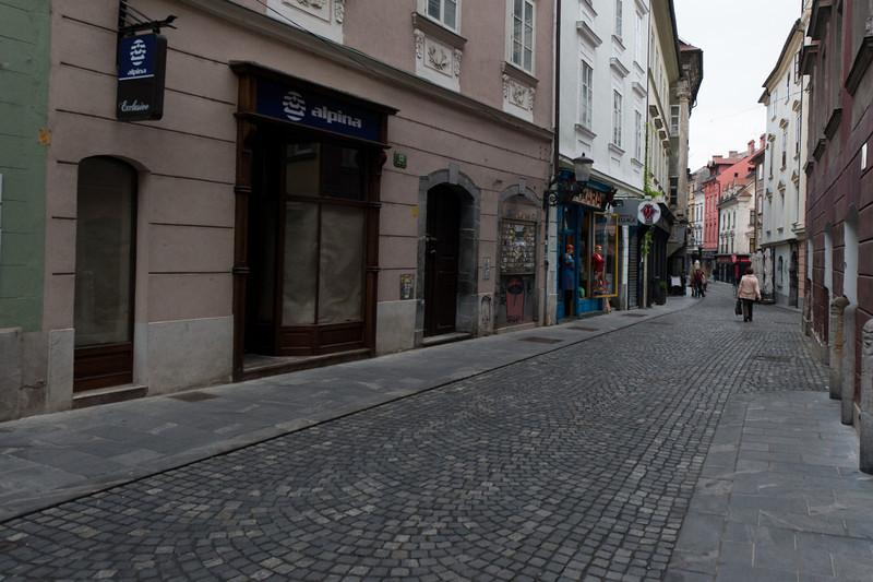 Quiet streets of Ljubljana, Slovenia