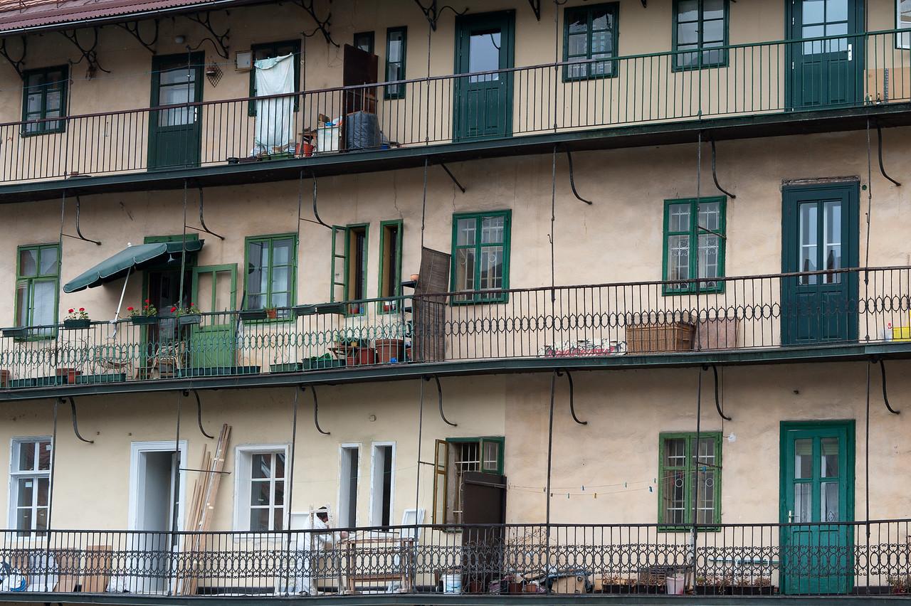 Apartment type building in Ljubljana, Slovenia