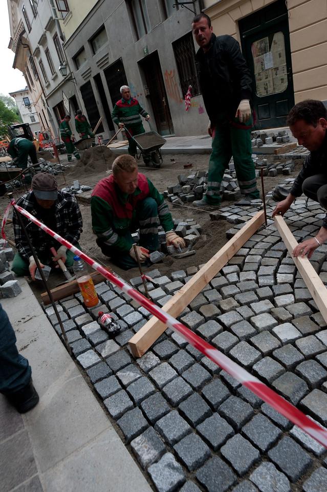 Construction site in Ljubljana, Slovenia