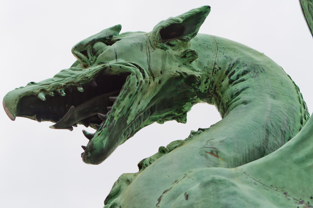 Dragon Statue On Ljubljana Bridge - Ljubljana, Slovenia