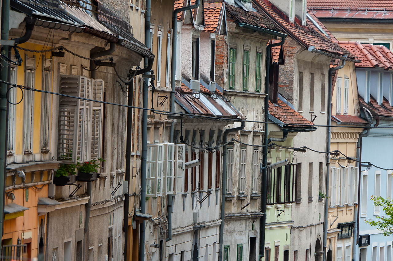 Row of houses - Ljubljana, Slovenia