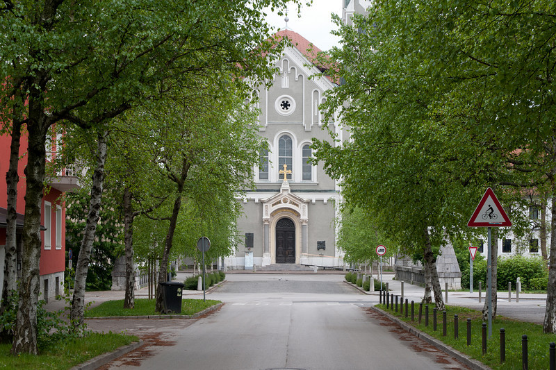The Church of St. John the Baptist in Trnovo, Ljubljana, Slovenia
