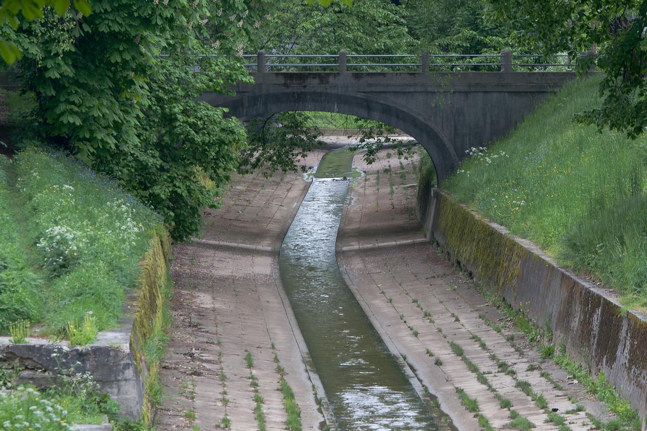The Rooster bridge that links Krakovo and Trnovo in Slovenia