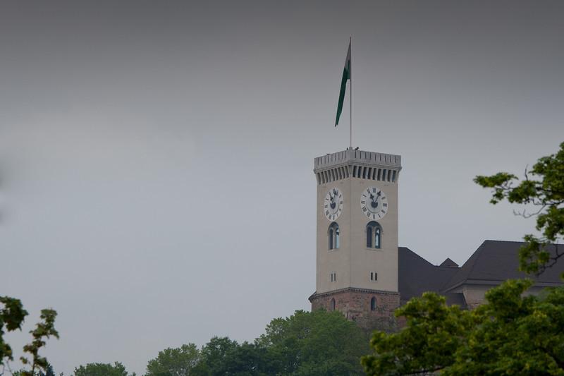 Ljubljana Castle Clock Tower in Slovenia