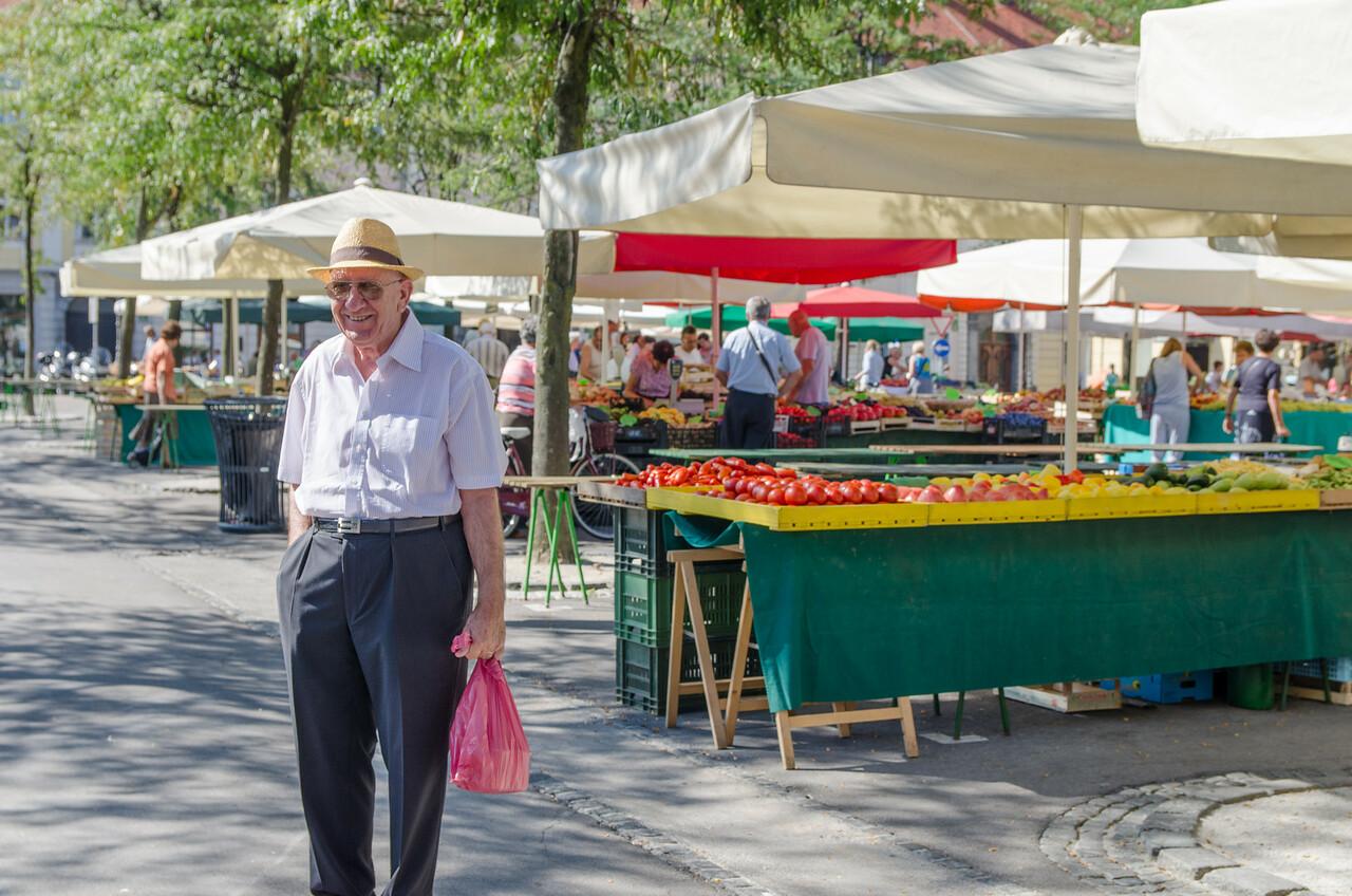 Man at the market.