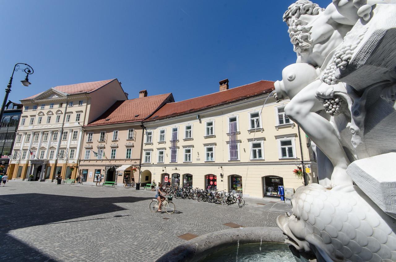 Robba Fountain at Ljubljana Town Square.