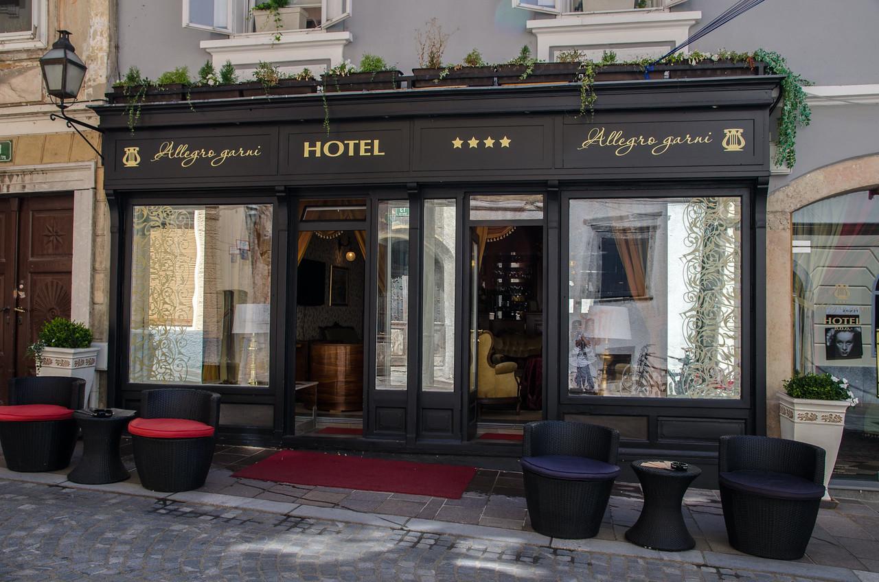 My home in Ljubljana, the Allegro Hotel.
