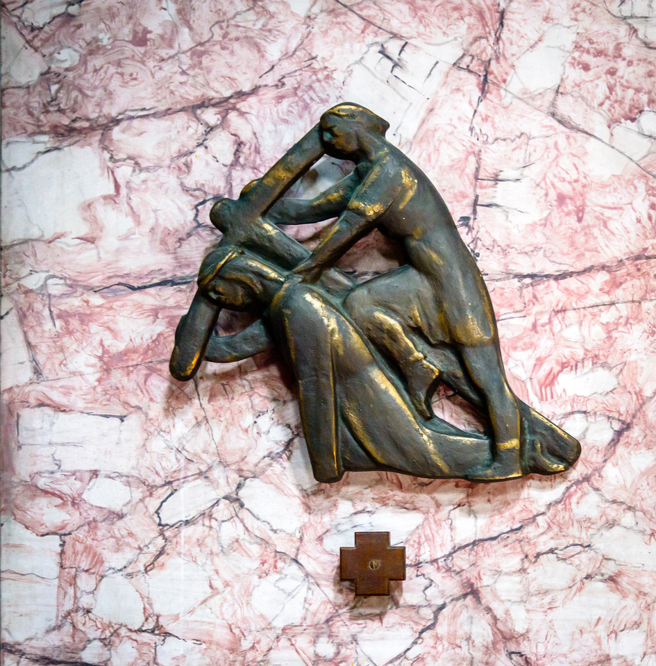 Modern Stations of the Cross in  St. Nicholas Cathedral