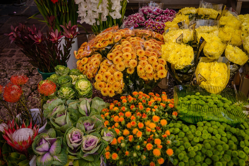 Fresh Flowers in the Market