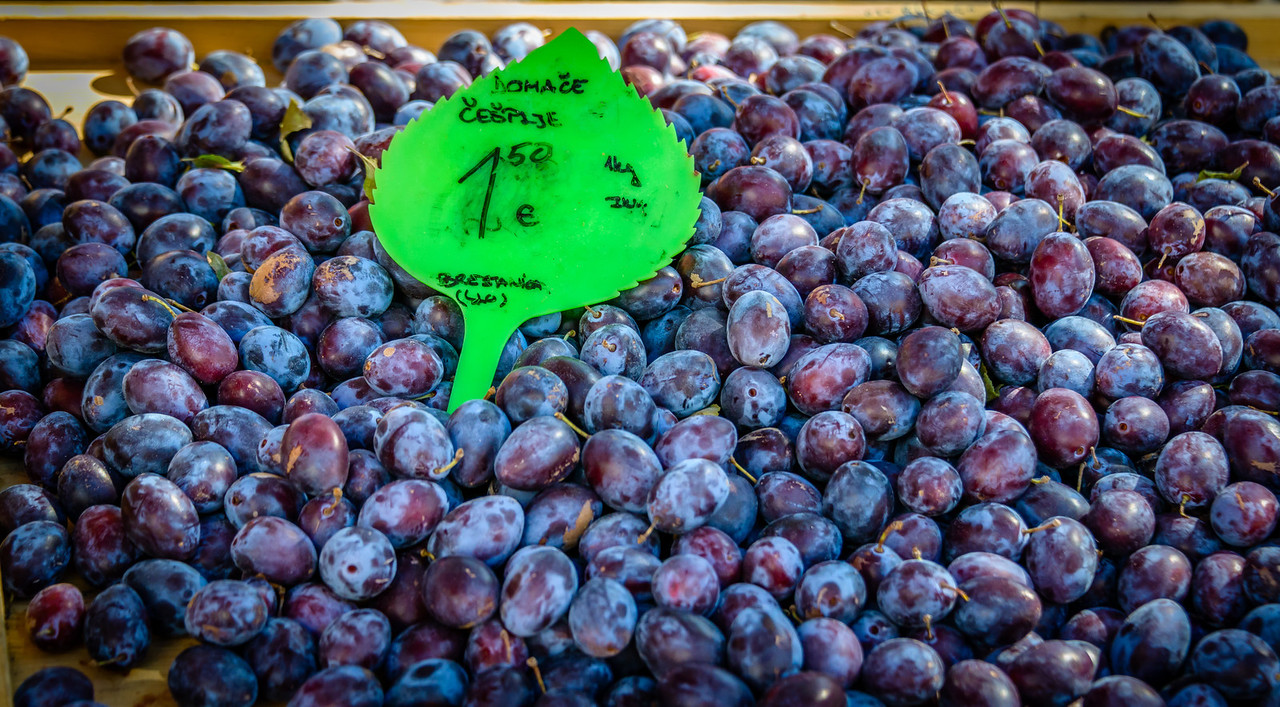 Plums at the Market