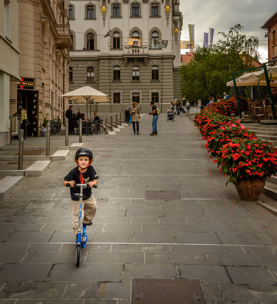 Scooting in Ljubljana