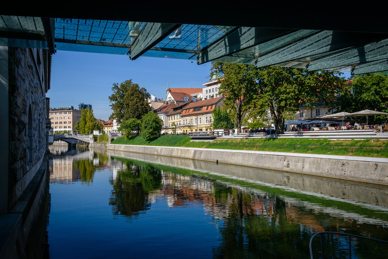 Ljubljana River at Butchers Bridge