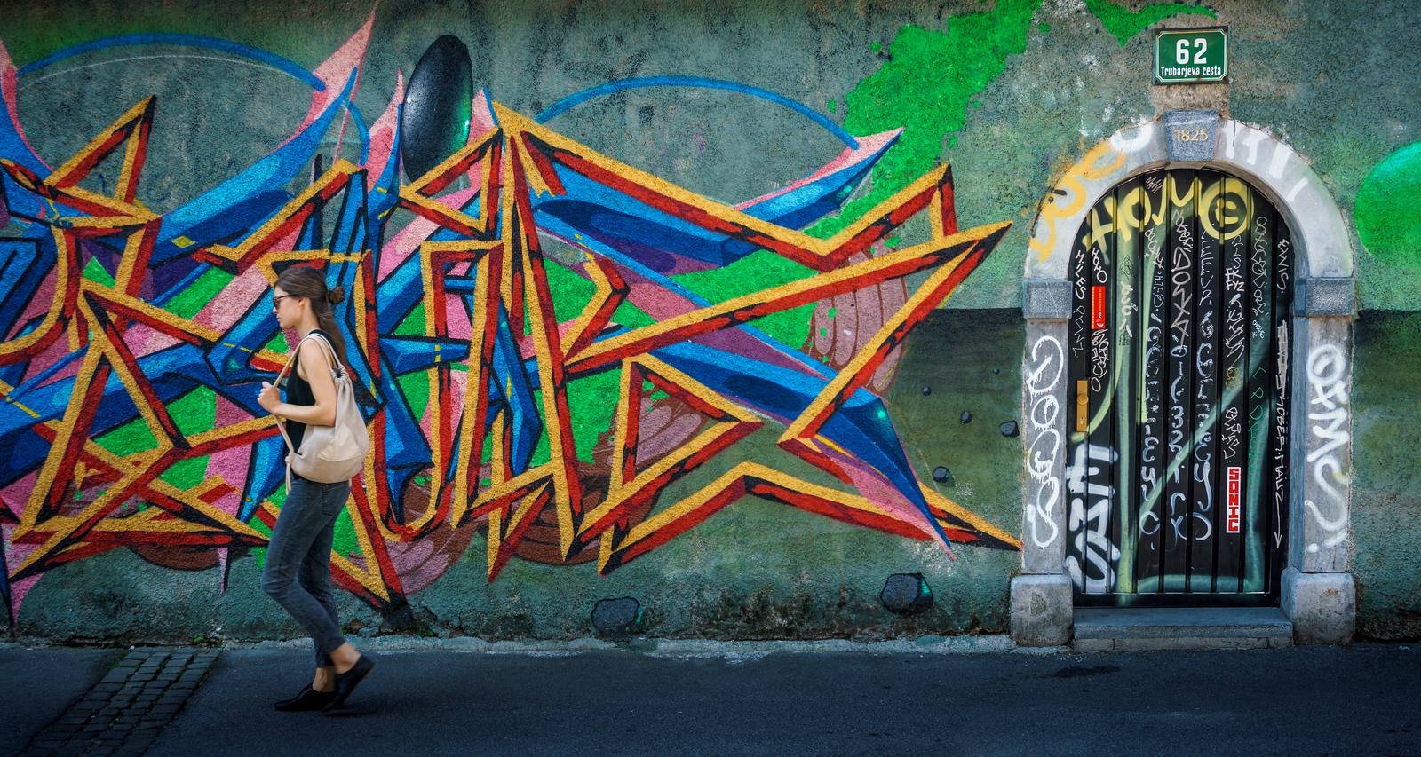 Street Art at Trubarjeva cesta.