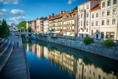 Romantic Ljubjana beautified by the magic evening light.