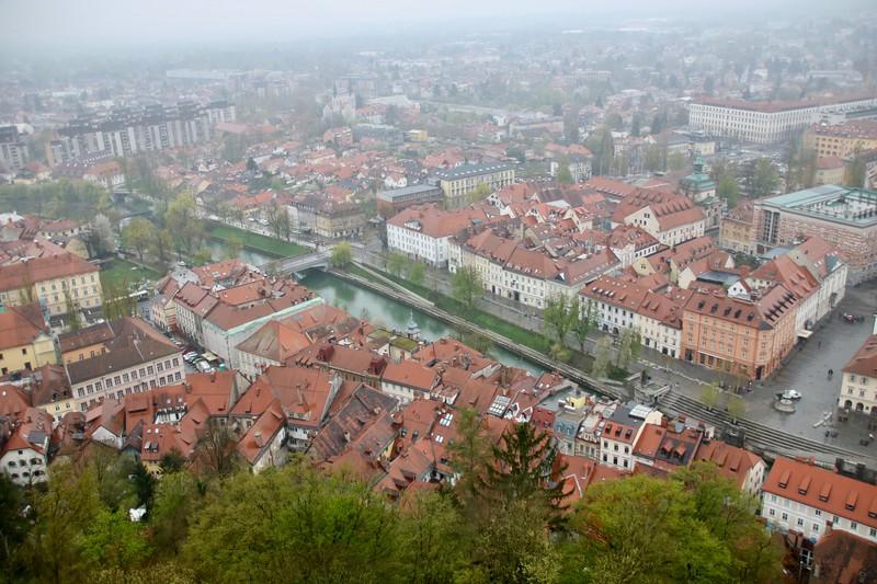 view from castle Ljubljana, Slovenia