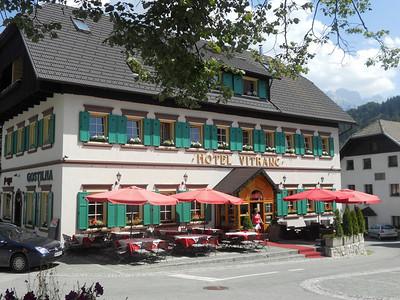 Hotel Vitranc in Podkoren, Slovenia, in the Julian Alps.