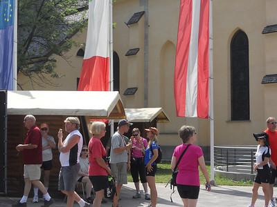 VBT riders enjoying gelato in Tarvisio