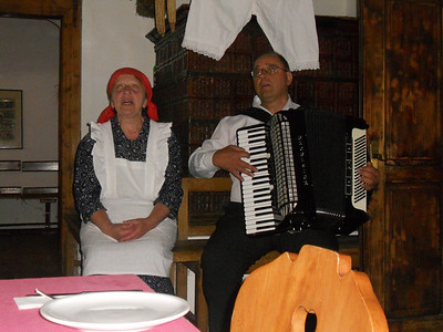 Local Podkorens singing a folk song.