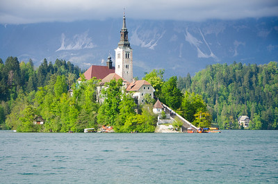 The church on an island in Lake Bled