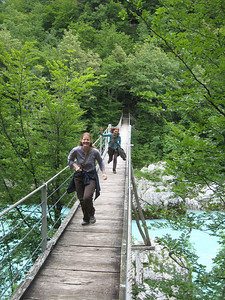 I am a Running Spaz On the Emerald River Day Trip from Lake Bled, Slovenia.