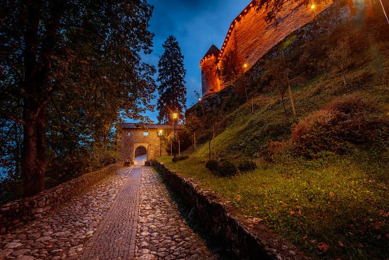 Entrance to Bled Castle