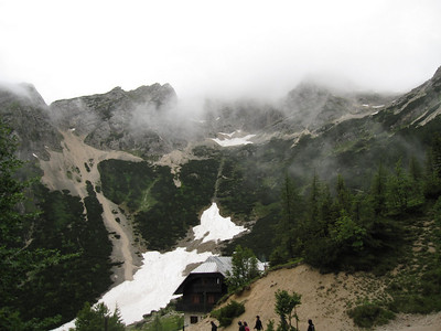 A Cloudy Mountian Hike On the Emerald River Day Trip from Lake Bled, Slovenia.